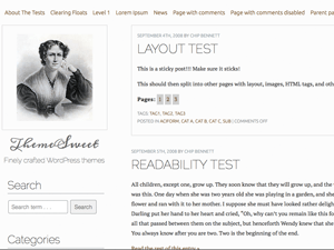 The Frances Wright free wordpress theme