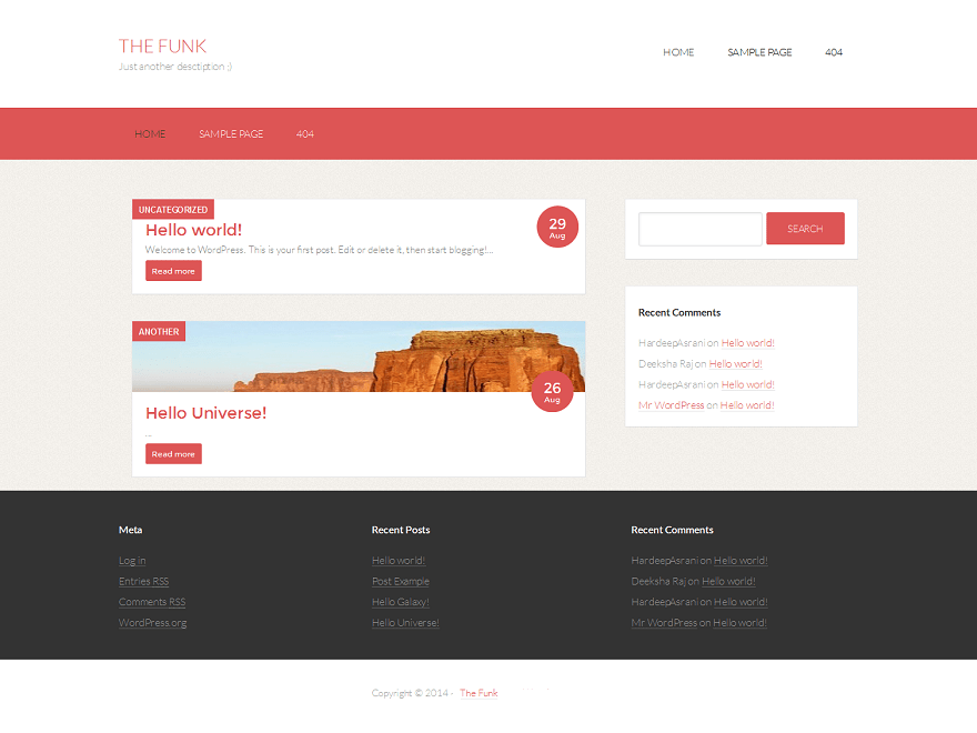 The Funk free wordpress theme