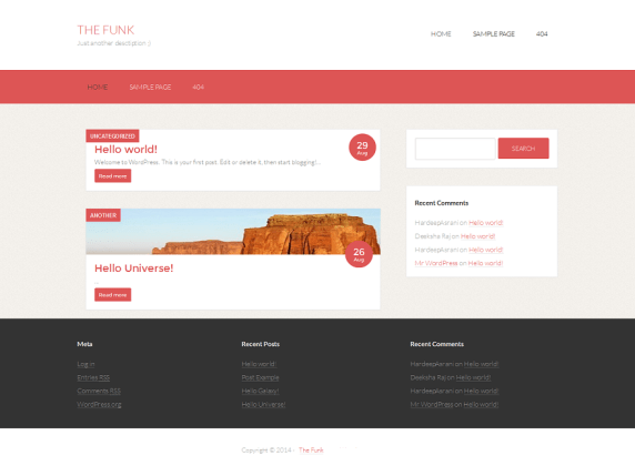 The Funk wordpress theme