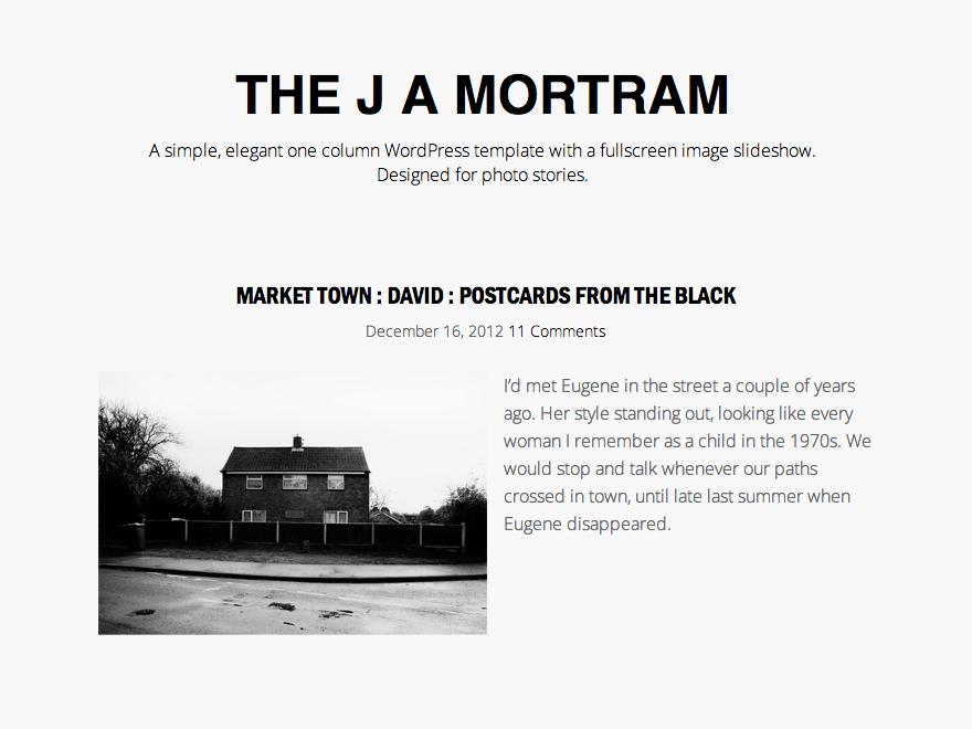 The J A Mortram theme wordpress gratuit