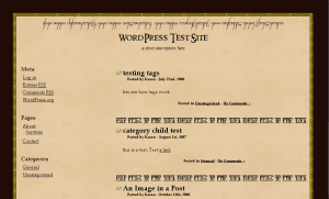 The Lord of the Rings free wordpress theme