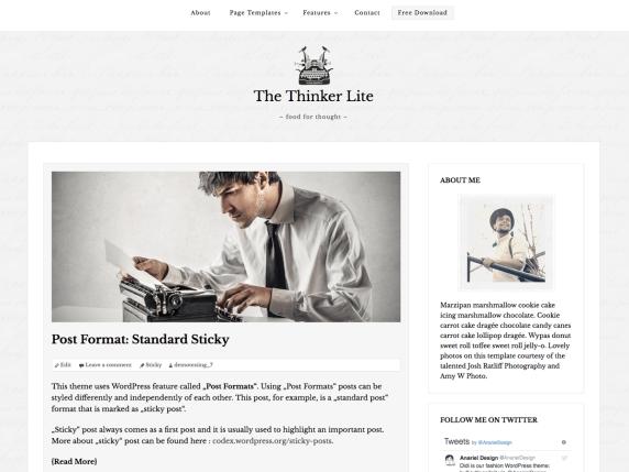 The Thinker Lite Theme | BGNBuzz