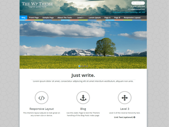 The WP wordpress theme