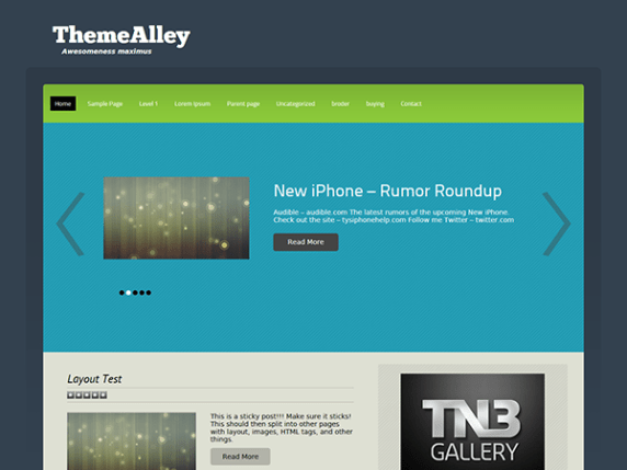Thea wordpress theme