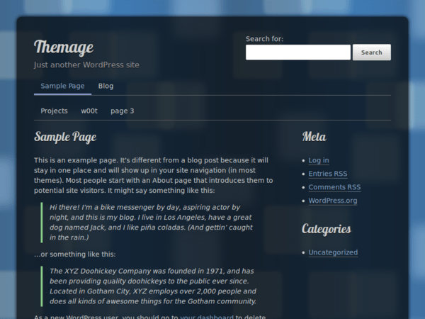 Themage free wordpress theme