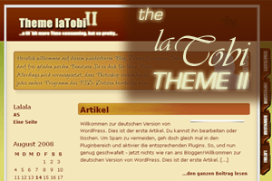 Theme laTobi II free wordpress theme
