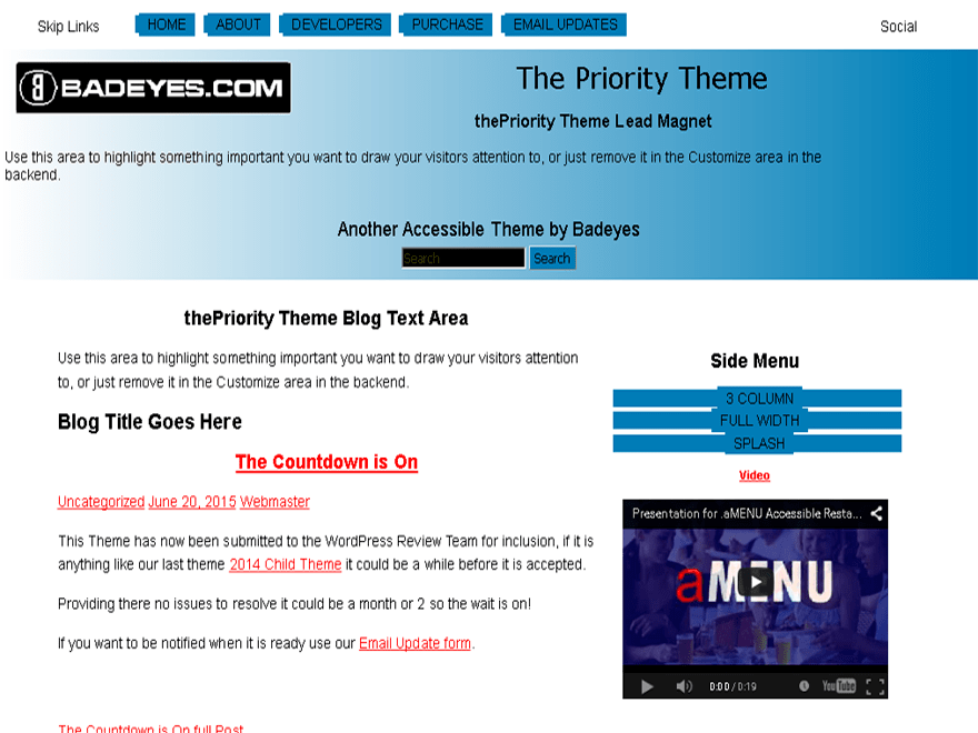 thePriority free wordpress theme