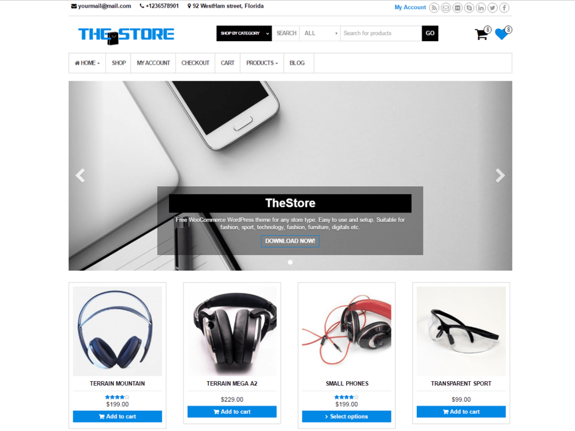 Best FREE responsive ecommerce WordPress themes