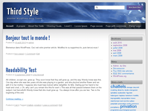 Third Style free wordpress theme