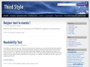 Third Style wordpress theme