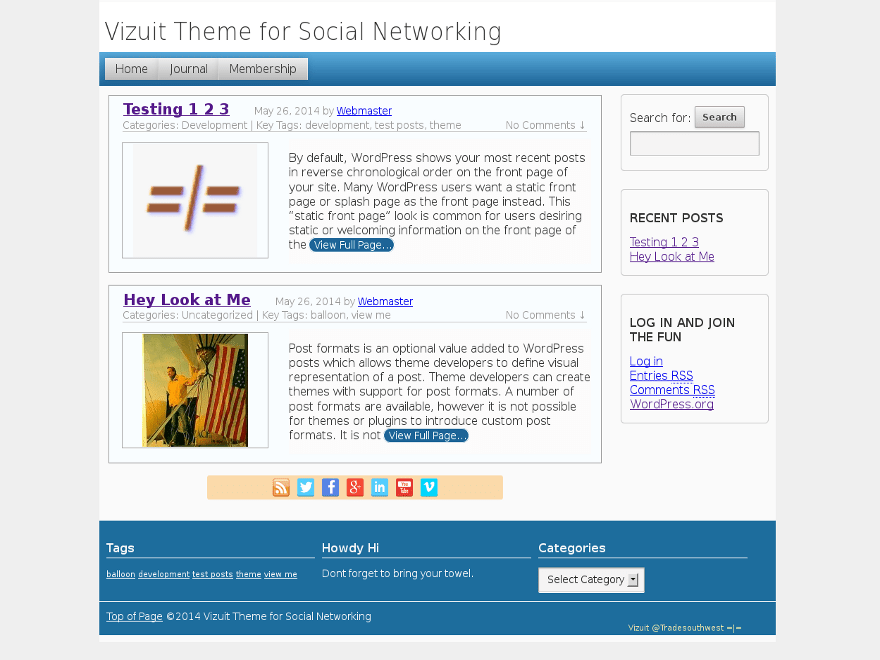 Threadz free wordpress theme