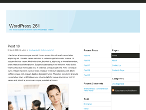 Three Column Blue wordpress theme
