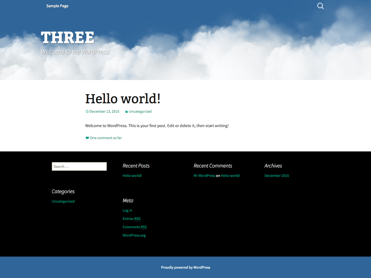 Three free wordpress theme