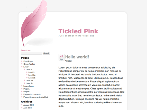 Tickled Pink wordpress theme