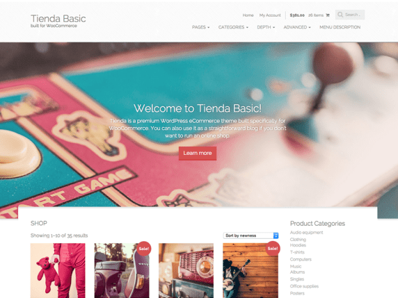 Tienda Basic wordpress theme