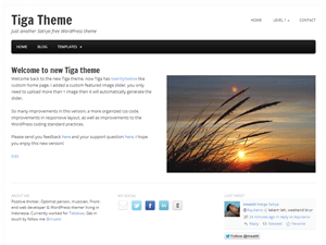 Tiga free wordpress theme