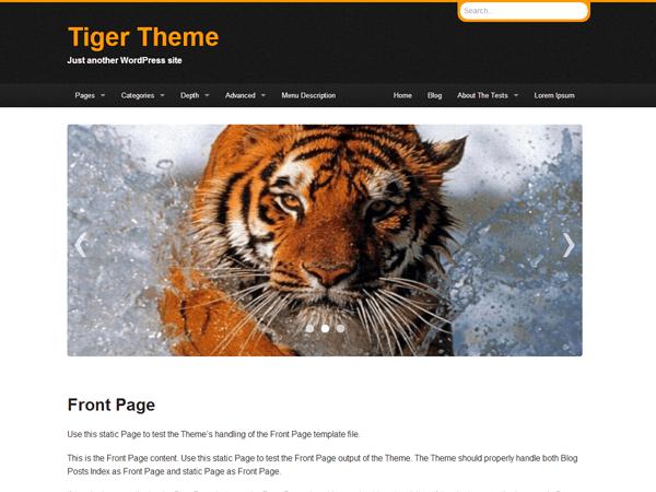 Tiger theme