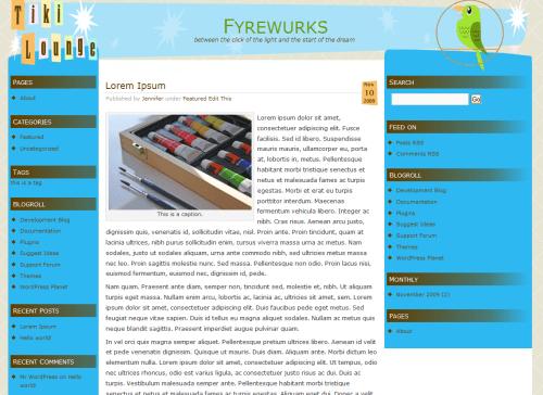 Tiki Time free wordpress theme
