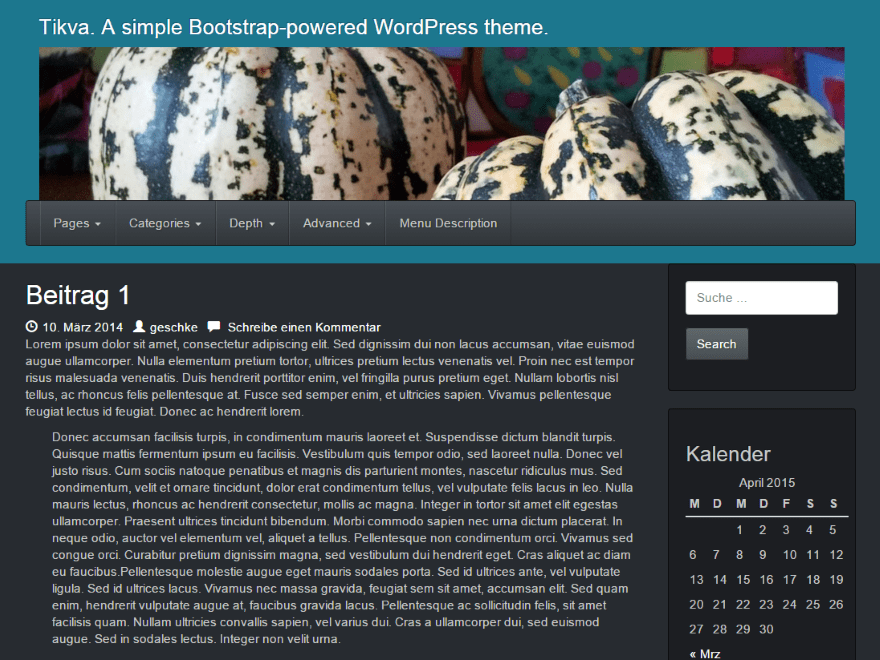 Tikva free wordpress theme