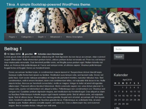 Tikva wordpress theme