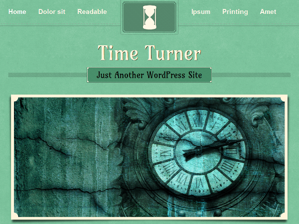 TimeTurner free wordpress theme