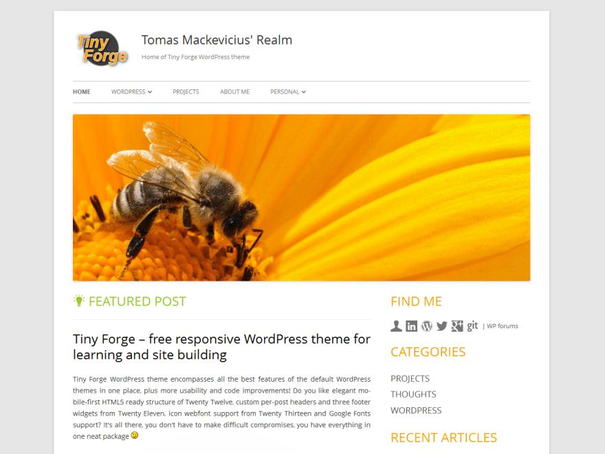 Tomas Mackevicius – @tomasm | WordPress org