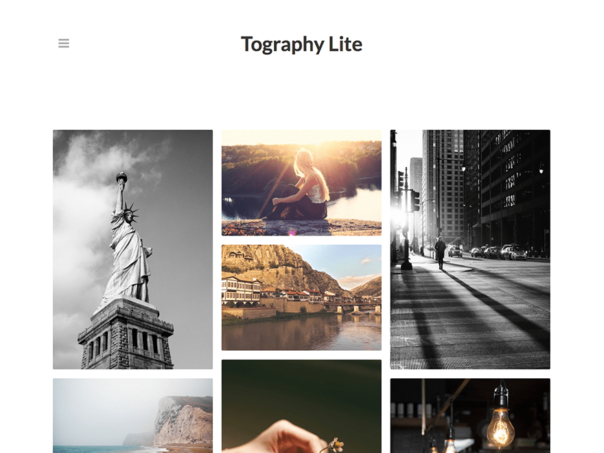 Tography Lite free wordpress theme