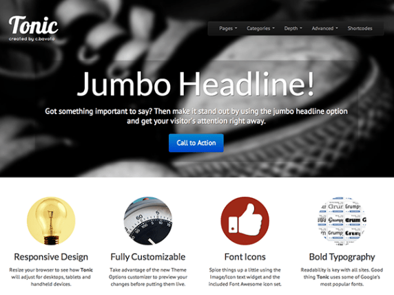Tonic wordpress theme