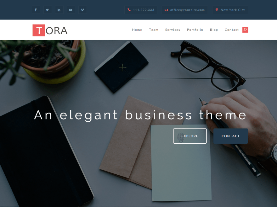 Tora free wordpress theme