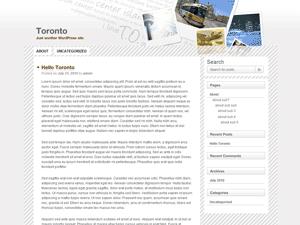 Toronto free wordpress theme
