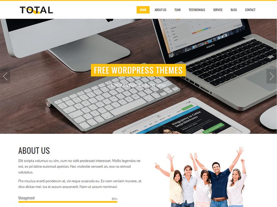 Total theme responsive wordpress