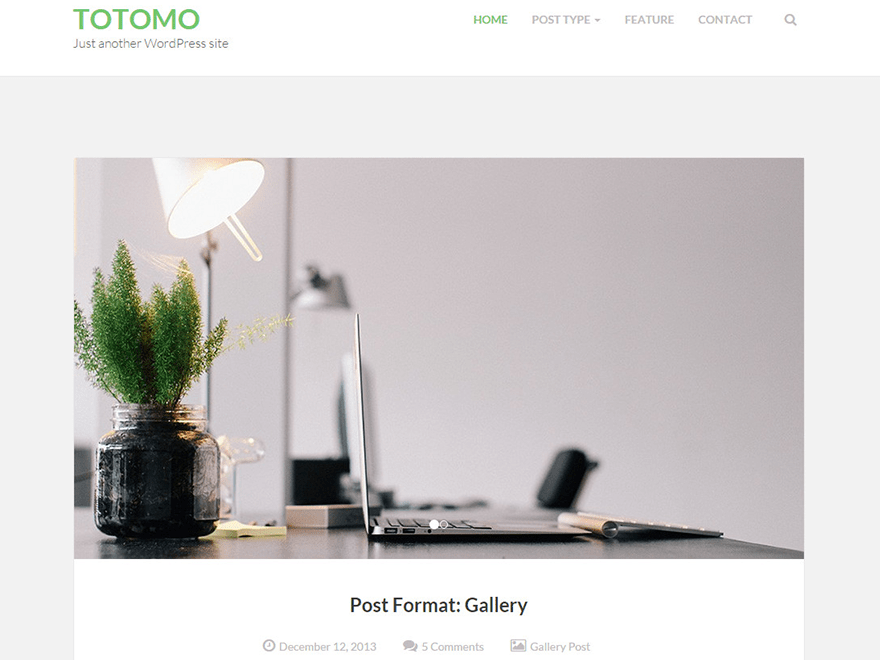 Totomo free wordpress theme