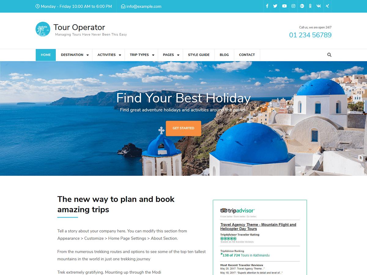 Tour Operator - WordPress theme   WordPress org