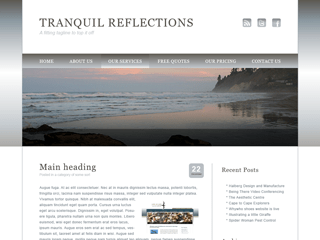 Tranquil Reflections free wordpress theme