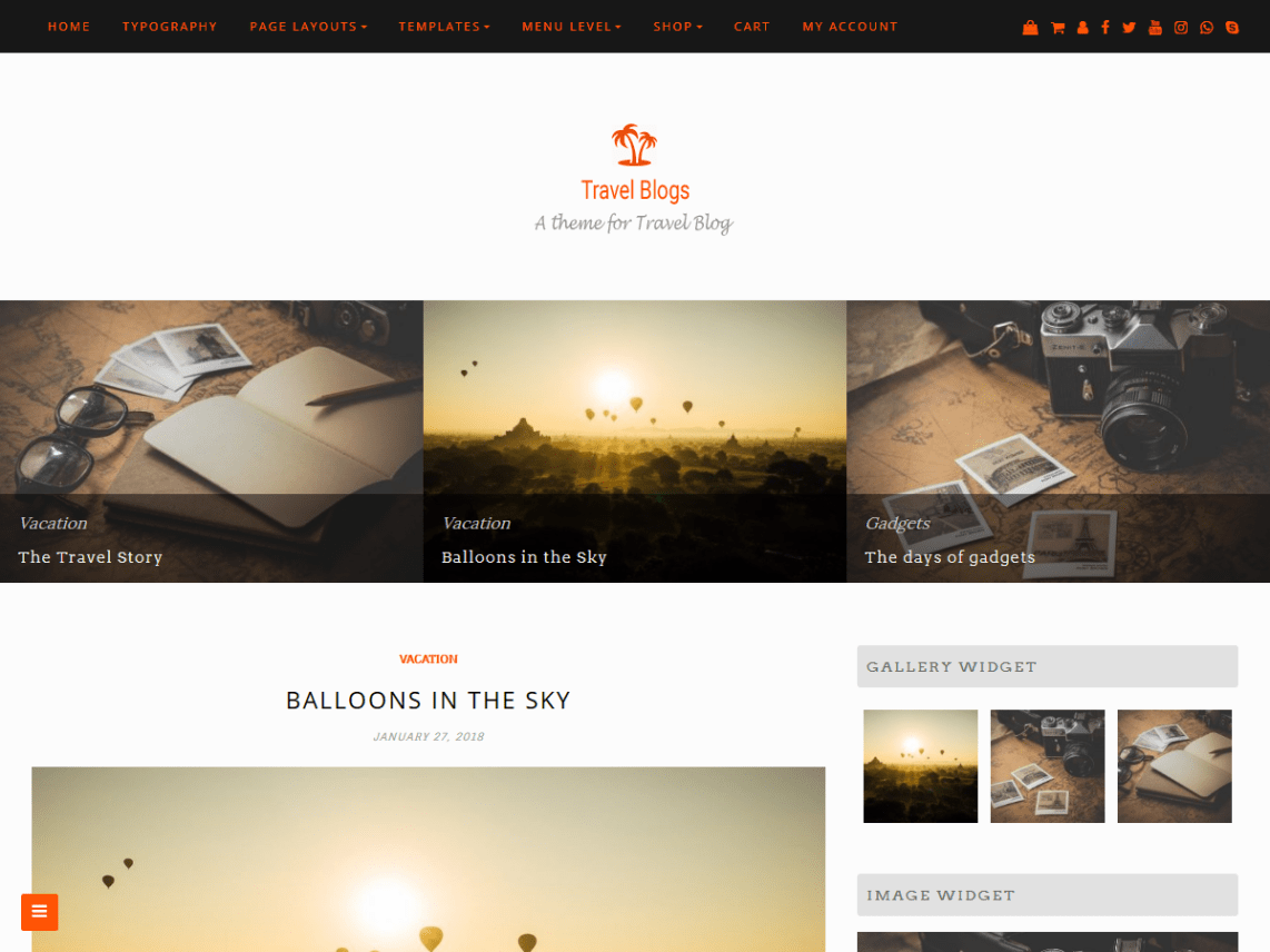 Travel Blogs Theme Free Download