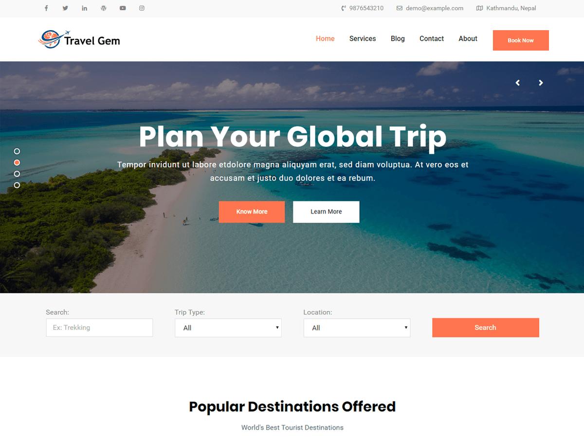 Travel Gem - WordPress theme   WordPress org