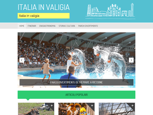Travel in Italy theme wordpress gratuit