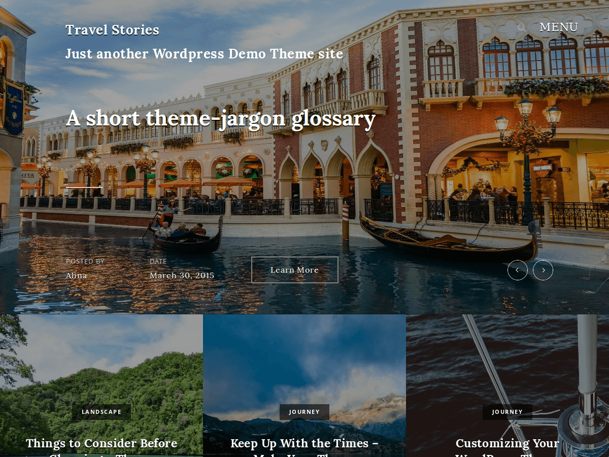 Travel Stories free wordpress theme