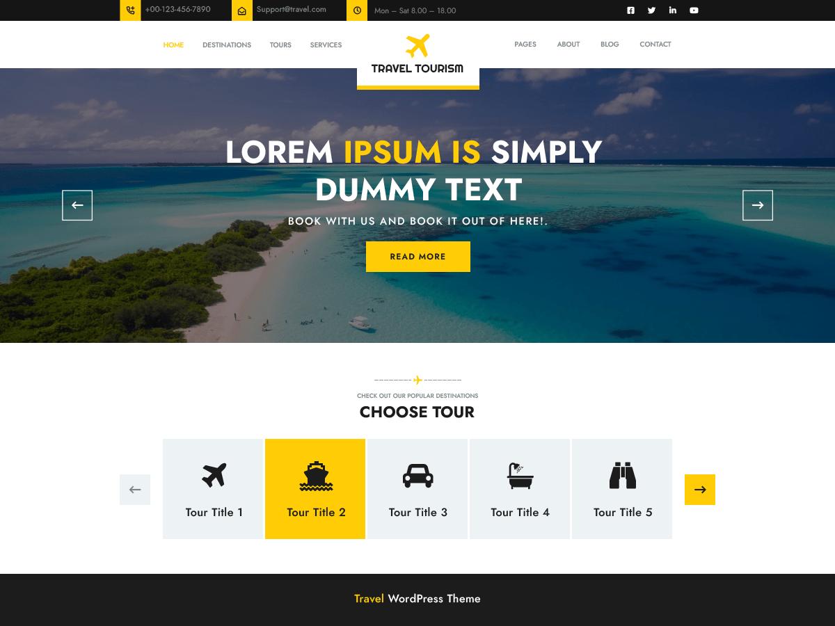 Travel Tourism Wordpress Theme Wordpress Org