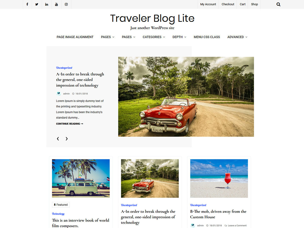 Traveler Blog Lite