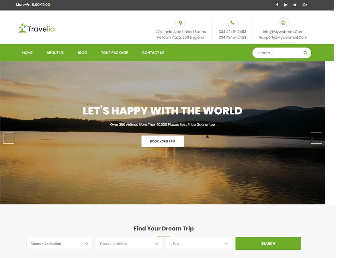 Travelia Tour & Travel WordPress Theme
