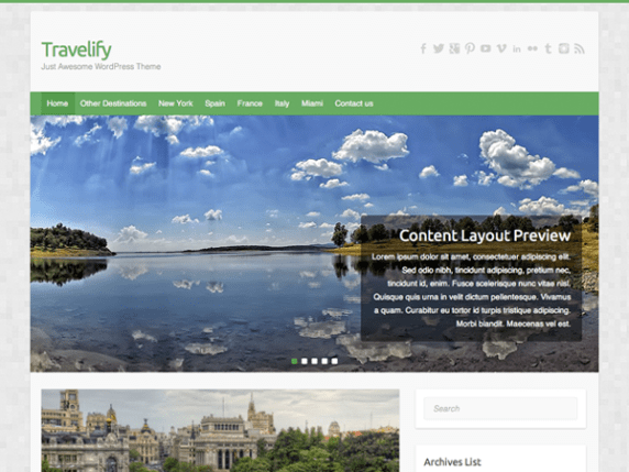 Travelify wordpress theme