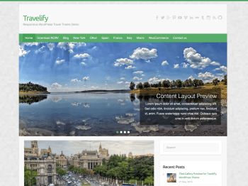 Travelify child theme