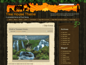 Tree House free wordpress theme
