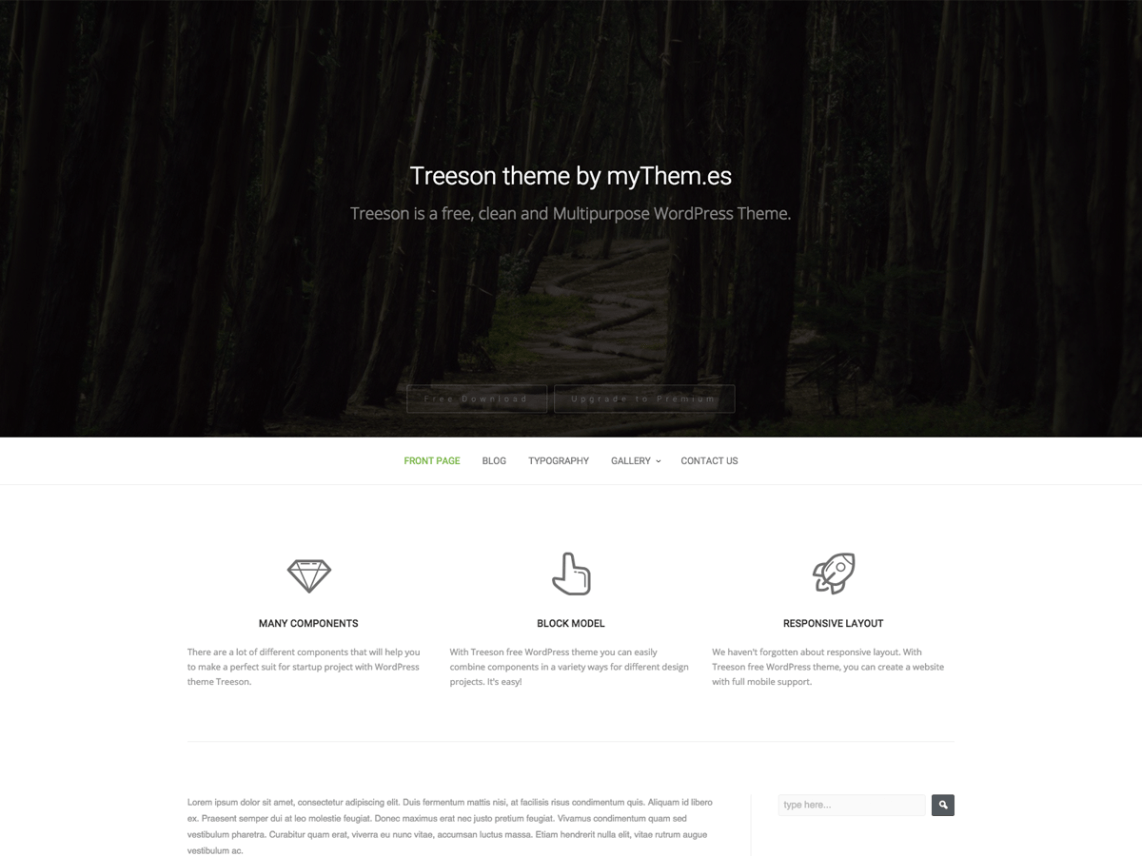 Treeson theme wordpress gratuit
