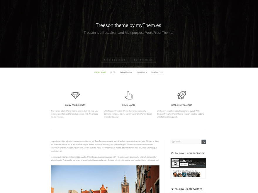 Treeson free wordpress theme