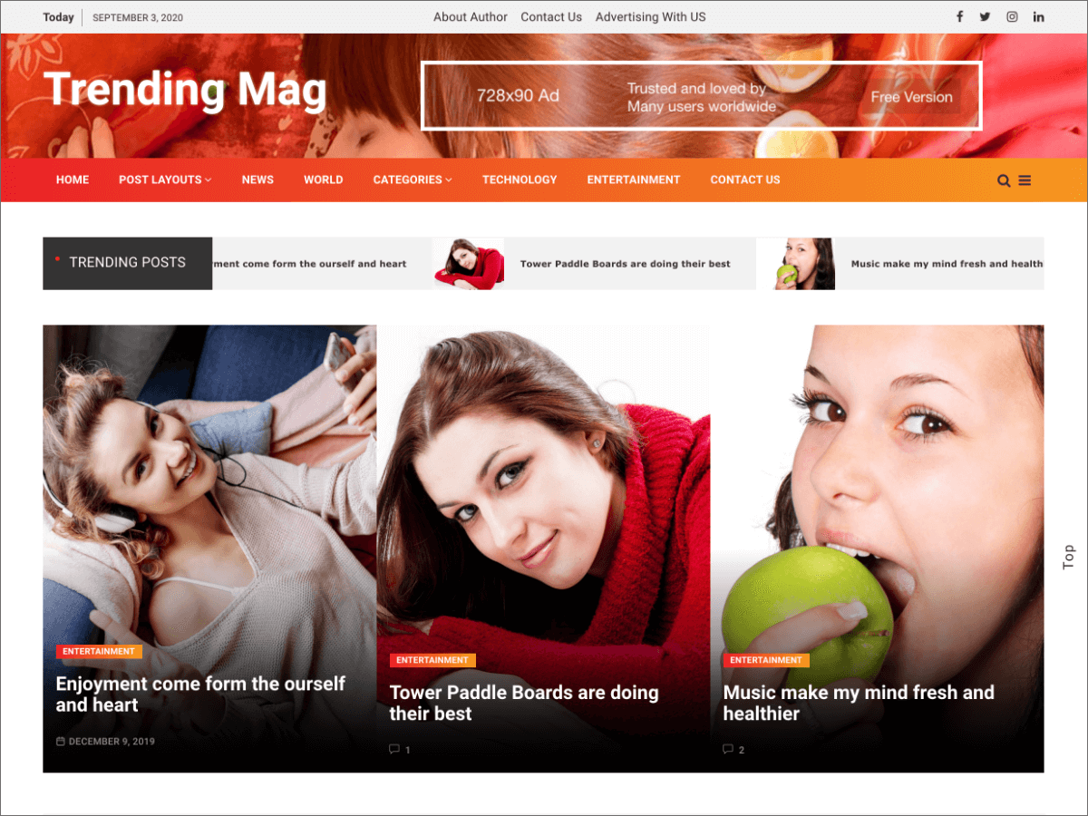 WordPress主题:Trending Mag