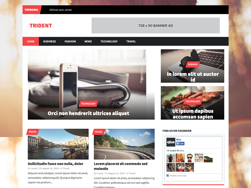 Trident Lite free wordpress theme