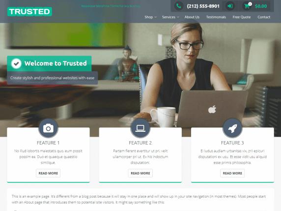 Trusted Free WordPress Theme