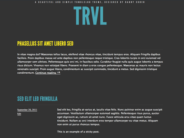 Trvl free wordpress theme
